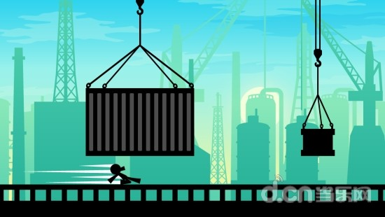 是一款跑酷游戏,在游戏中玩家将操控火柴人奔跑于清晨的工厂地带,通过