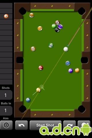 玩體育競技App 美式2D台球 完整版 Touch Pool 2D免費 APP試玩