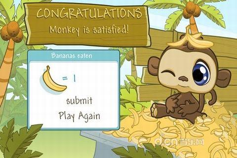 野生动物猴子ppt背景图